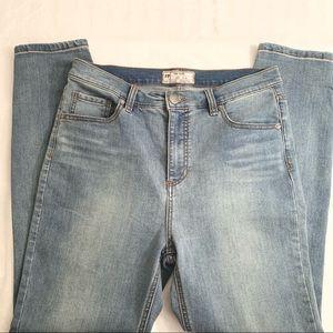 FREE PEOPLE | High Rise Medium Wash Skinny Jeans
